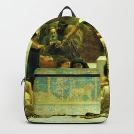 Classical Masterpiece The Slave Market Of Babylon by Edwin Long Backpack