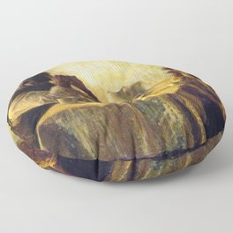 African American Masterpiece 'The Thankful Poor' by Henry Ossawa Tanner Floor Pillow