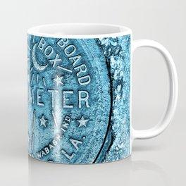 New Orleans Water Meter Louisiana Crescent City NOLA Water Board Metalwork Blue Coffee Mug