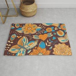 Floral Khokhloma pattern Rug