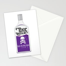 Toxic Masculinity Ruins The Party Again (Purple) Stationery Cards