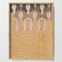 Gustav Klimt - Choir of Angels (Chor Der Paradiesengel) Serving Tray