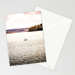 Lonely Ship Buoy Halt Weiterfahrt Verboten Möhne Reservoir Lake bright Stationery Cards