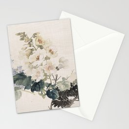 Vintage Chinese Ink and Brush Painting and Calligraphy Stationery Cards