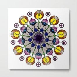 abstract nonagon mandala Metal Print