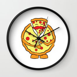 """Unzip the pizza"" tee design. Perfect gift for Pizza lovers like you and your friends and family!  Wall Clock"
