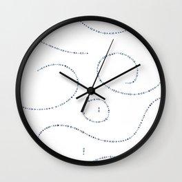 Celestial Stitches II Wall Clock