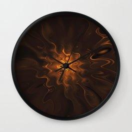 Liquid colors intense art Wall Clock