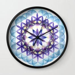 Levender Mandala Wall Clock