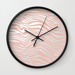 Rose Gold Tiger Stripes Wall Clock