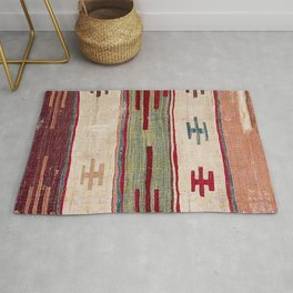 Arcade Star Kilim // 17th Century Colorful Muted Lime Green Southwest Cowboy Ornate Accent Pattern Rug