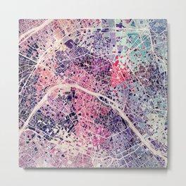 Paris mosaic Metal Print