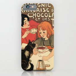Vintage French tea and hot cocoa advertising iPhone Case