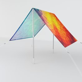 Abstract Polygon Multi Color Cubism Low Poly Triangle Design Sun Shade