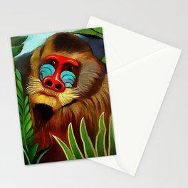 """Henri Rousseau """"Mandrill in the jungle"""" Stationery Cards"""
