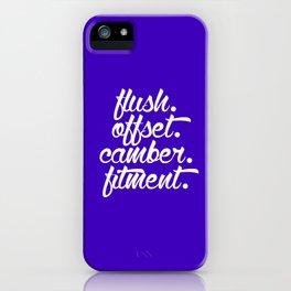 flush offset camber fitment v6 HQvector iPhone Case