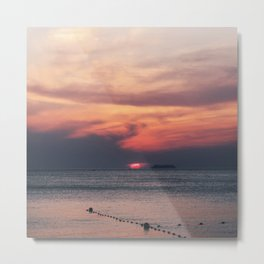 FADING SUNSET Metal Print