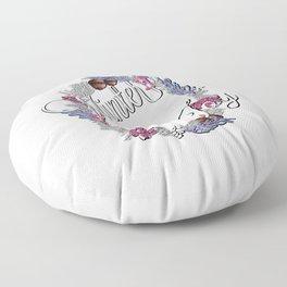 Winter joy wreath  Floor Pillow