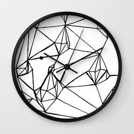 Diamonds Lines Wall Clock