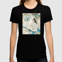 Yuki Onna and Crane Ukiyo-e  T-shirt