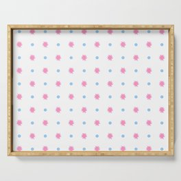 stars 103- blue and pink Serving Tray
