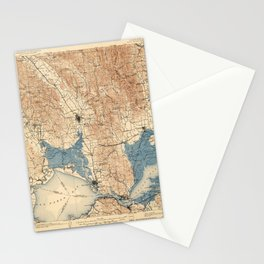 Map of Napa Valley 1902 Stationery Cards