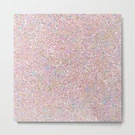 Iridescent Pink Glitz Pattern Metal Print