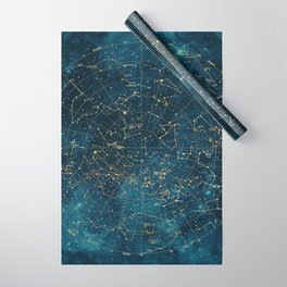 Under Constellations Wrapping Paper
