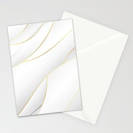Sea Shell White with Gold Accents Stationery Cards