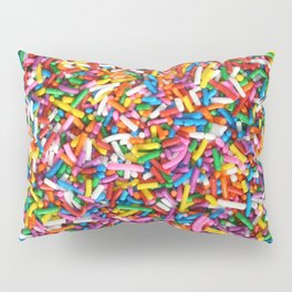 Rainbow Sprinkles Sweet Candy Colorful Pillow Sham
