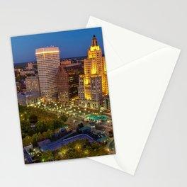 Providence, Rhode Island Night Skyline Stationery Cards
