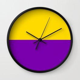 Intersex Flag Wall Clock