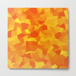 Geometric Shapes Fragments Pattern yo Metal Print