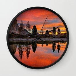 Dolomites Wall Clock