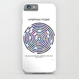 Umphrey's McGee Red Rocks 2012 Spiral Art iPhone Case