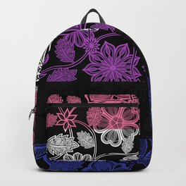 Flight Over Flowers of Fantasy - Genderfluid Pride Flag Backpack