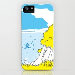Sea and Boat iPhone Case