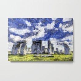 Stonehenge Starry Night Metal Print