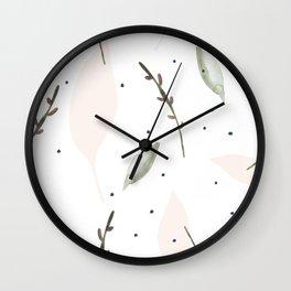 Lavender and Lemons Minimalist Art Wall Clock