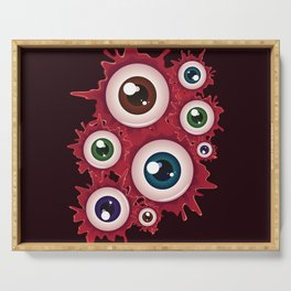 Spooky halloween bloody eyeballs Serving Tray