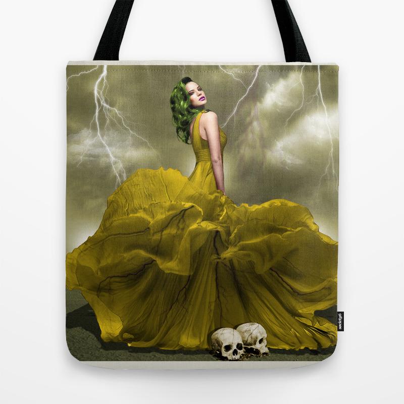 Black Veins Tote Bag by Katerinagold TBG783932