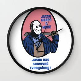 Jason Wears A Mask Wall Clock