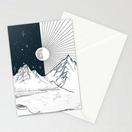 Mountain Lake Stationery Cards