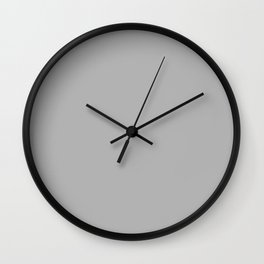Simple Gray / Grey Luxe Solid Color Wall Clock