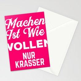 MACHEN ist wie WOLLEN nur Krasser I Motivations graphic Stationery Cards