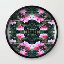 Candy Coated Roses Wall Clock