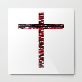 Frances Biblical ART CROSSES BEAUTY Metal Print