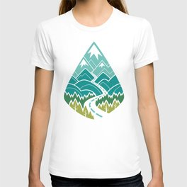The Road Goes Ever On : Spring (white) T-shirt