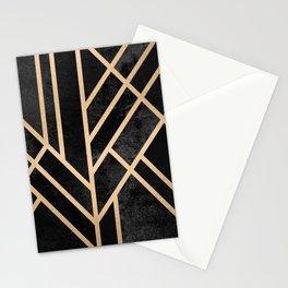Art Deco Black Stationery Cards