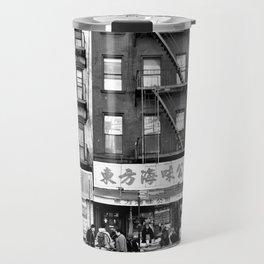 China Town Streets in New York City Travel Mug